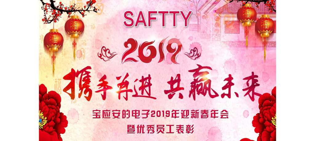 2019.02 Baoying Saftty Electronic (2019) Welcome to the New Year Spring Festival Annual Meeting and Outstanding Employee Recognition